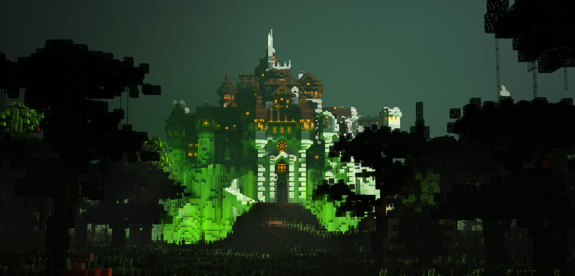 Minecraft MCProHosting Witch Castle Front View