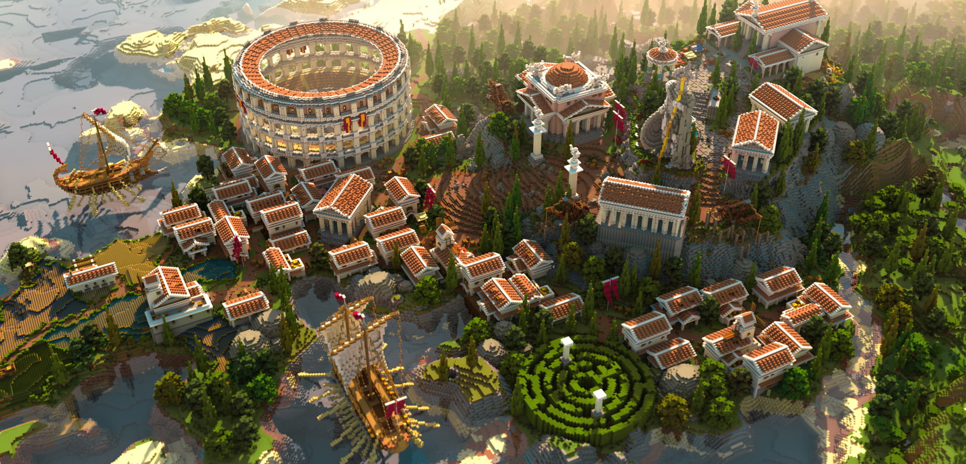 Minecraft Roman Empire Overview