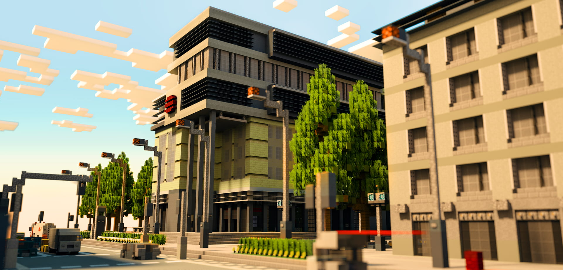 Minecraft Sparkasse Main Building