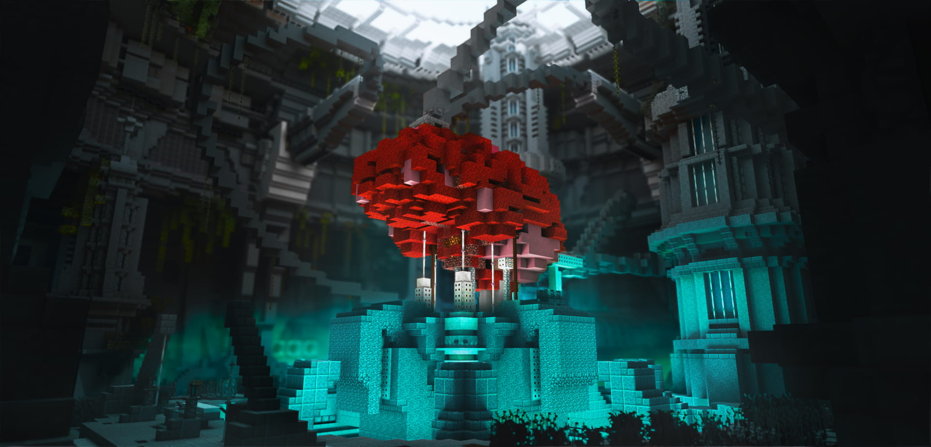 Minecraft The Nexus Trials Render Machinima Set Brain Side