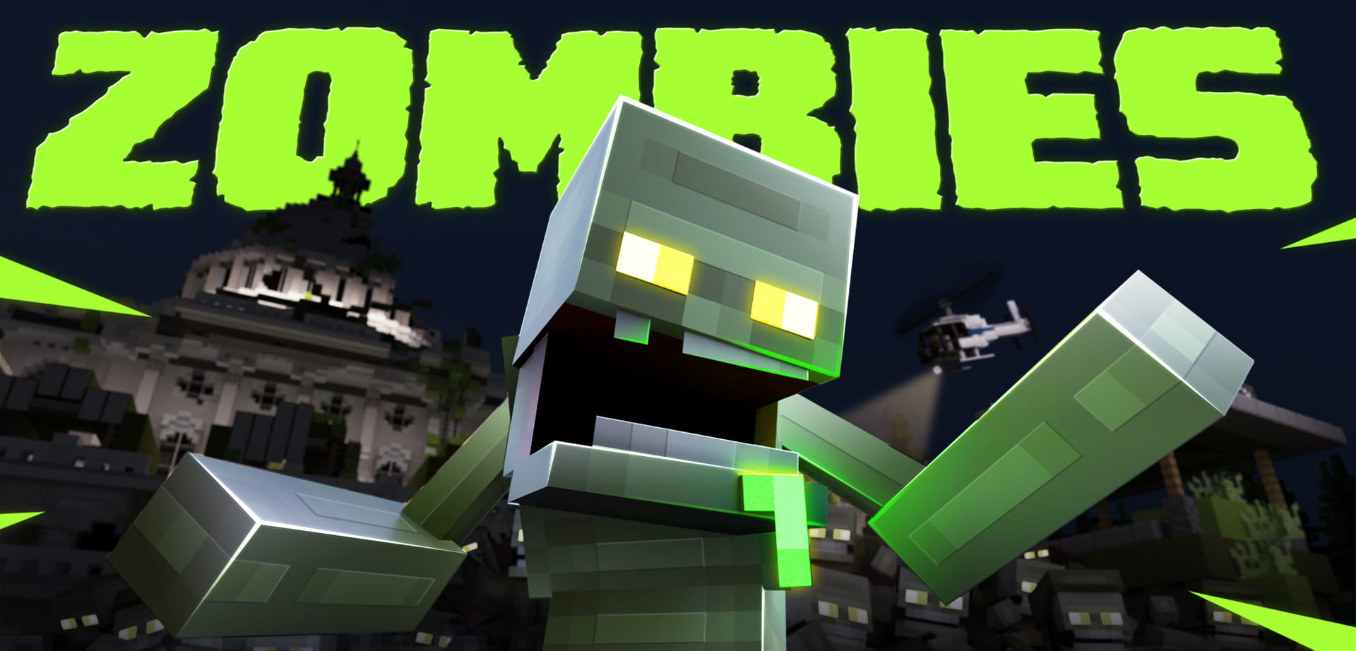 Minecraft Zombies Rendered Thumbnail